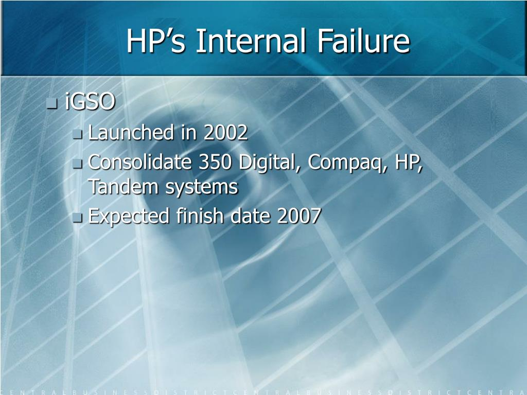 HP's Internal Failure