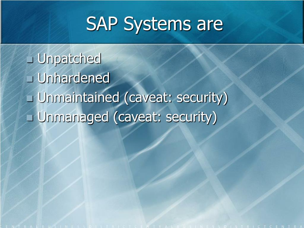 SAP Systems are