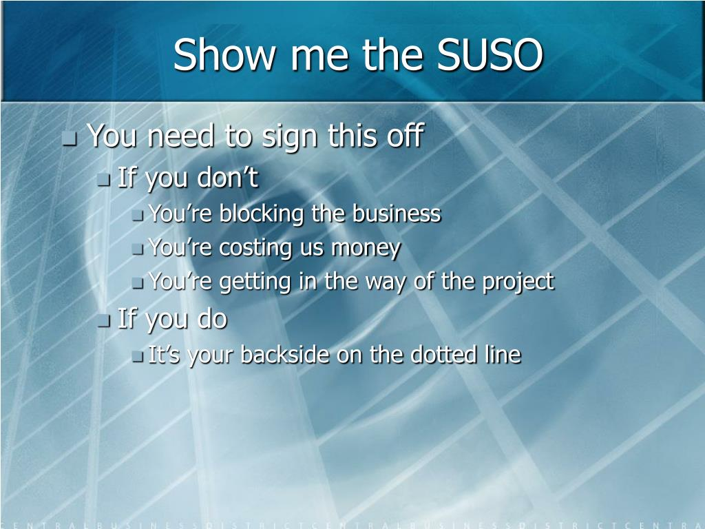Show me the SUSO