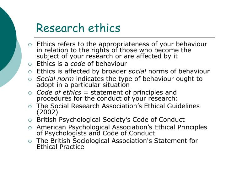ethical implications in sociological field research In field research potential ethical issues in sociological research are normally not as serious as those in medical research.