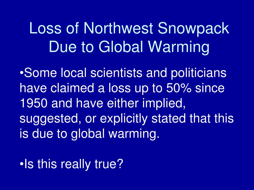 Loss of Northwest Snowpack