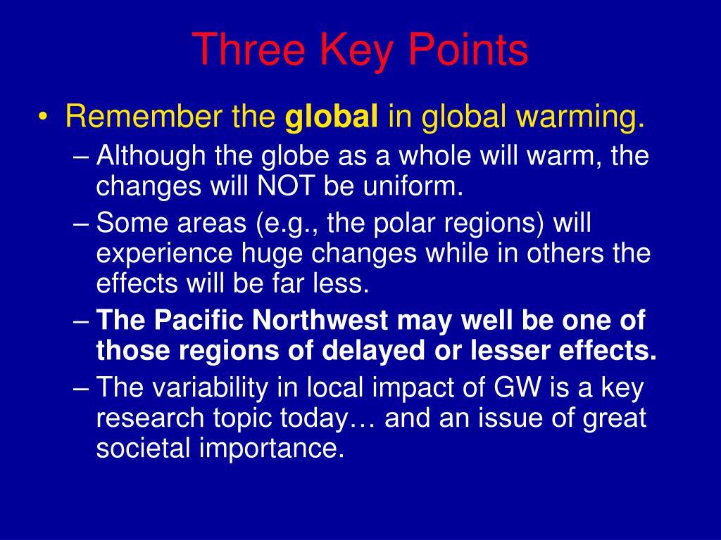 Three Key Points