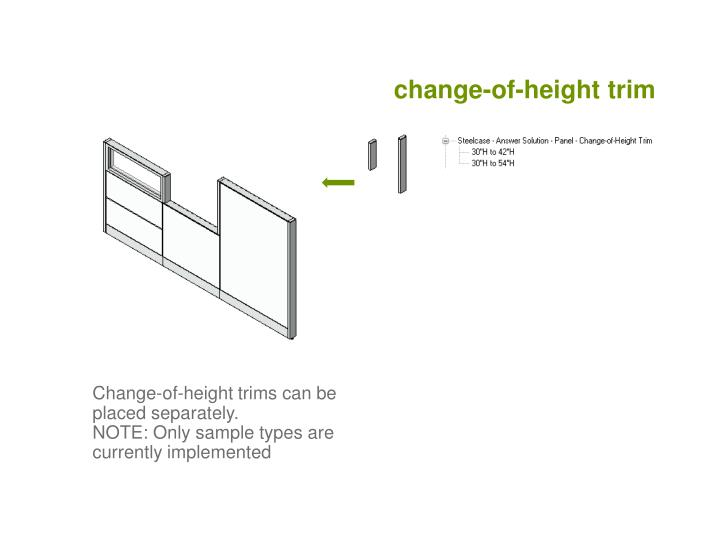 change-of-height trim