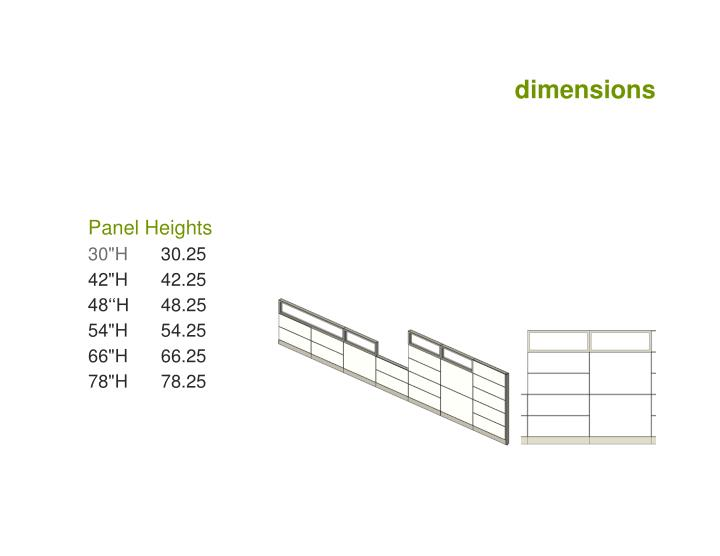 Dimensions