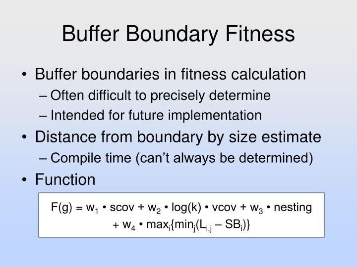 Buffer Boundary Fitness