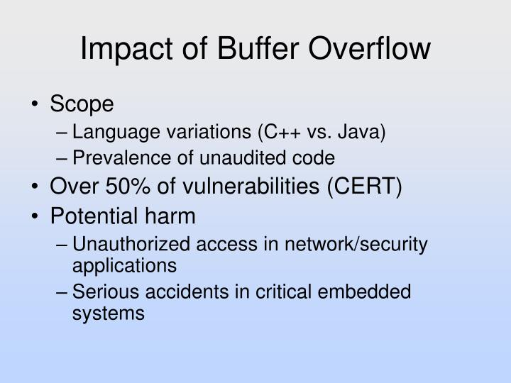 Impact of Buffer Overflow