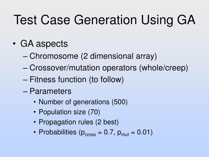 Test Case Generation Using GA