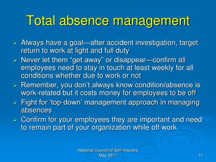 Total absence management