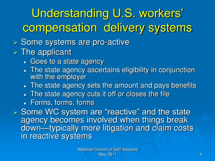 Understanding U.S. workers' compensation  delivery systems