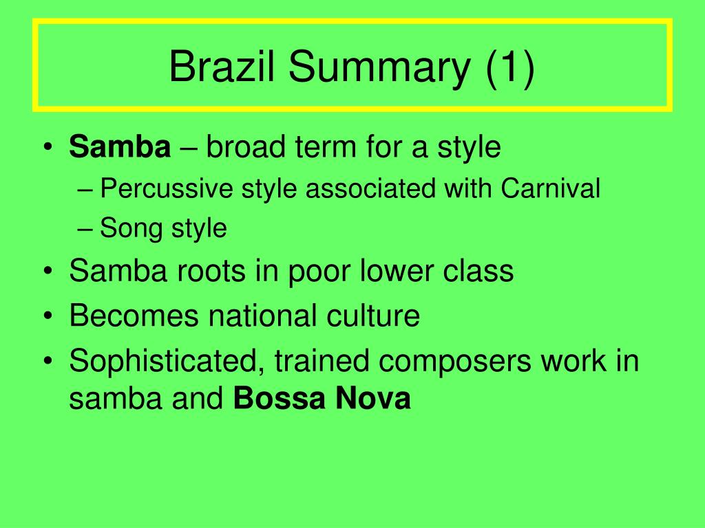 Brazil Summary (1)