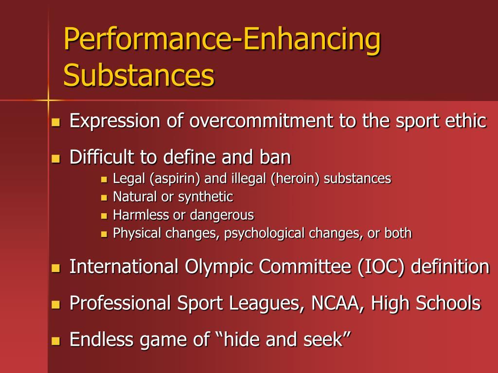 Performance-Enhancing Substances