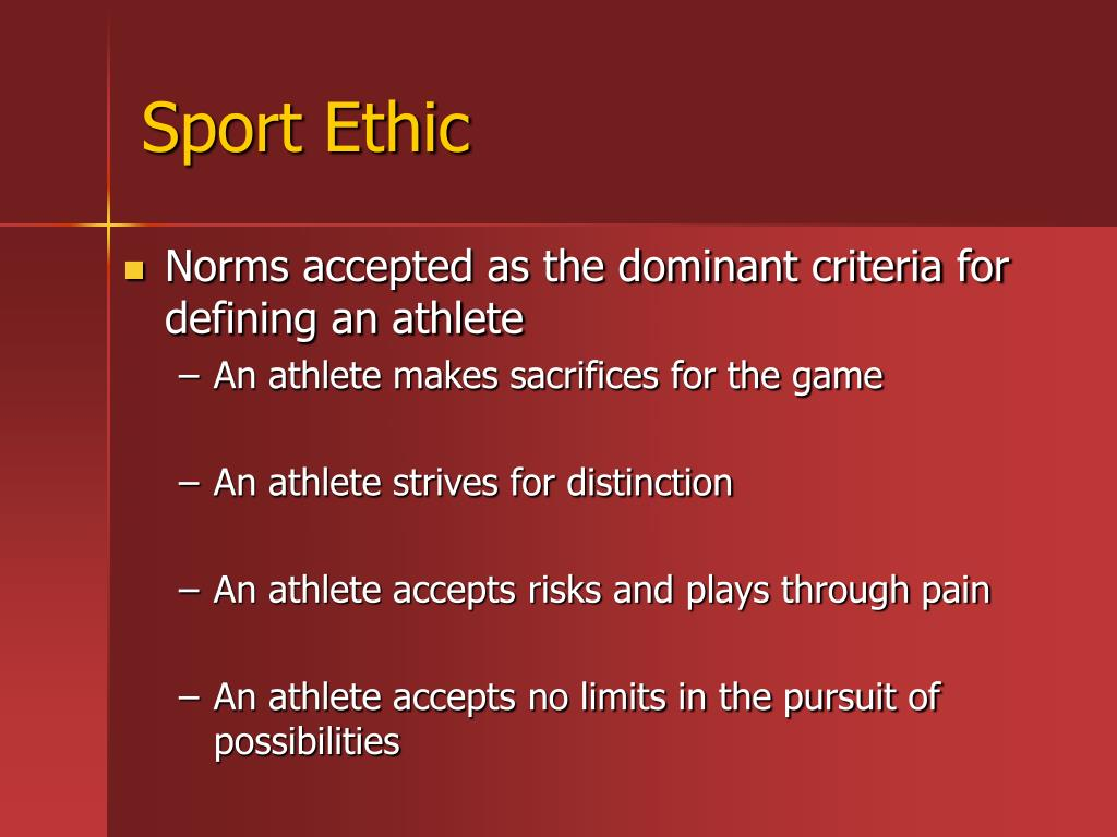 Sport Ethic