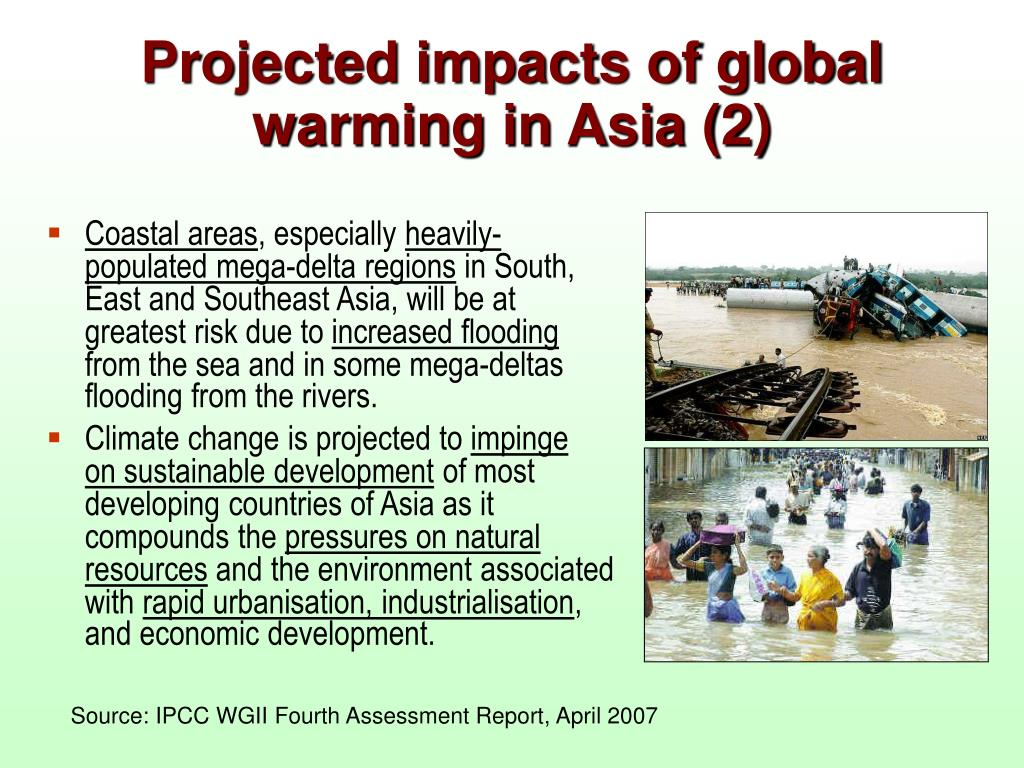 Projected impacts of global warming in Asia (2)