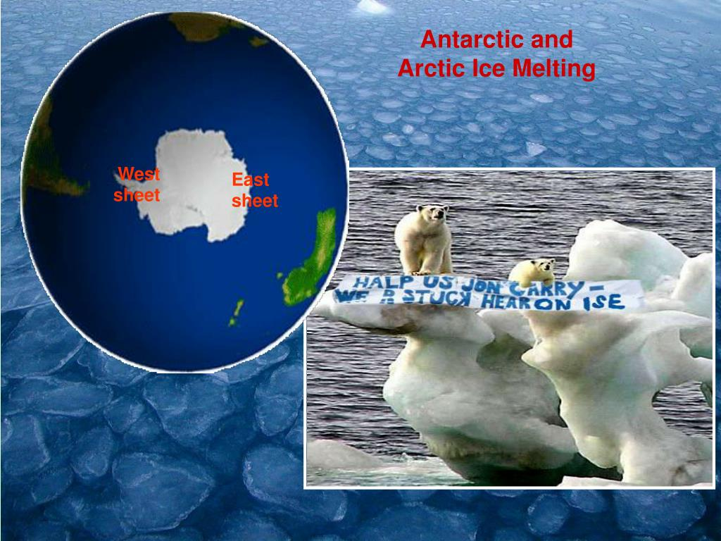 Antarctic and Arctic Ice Melting