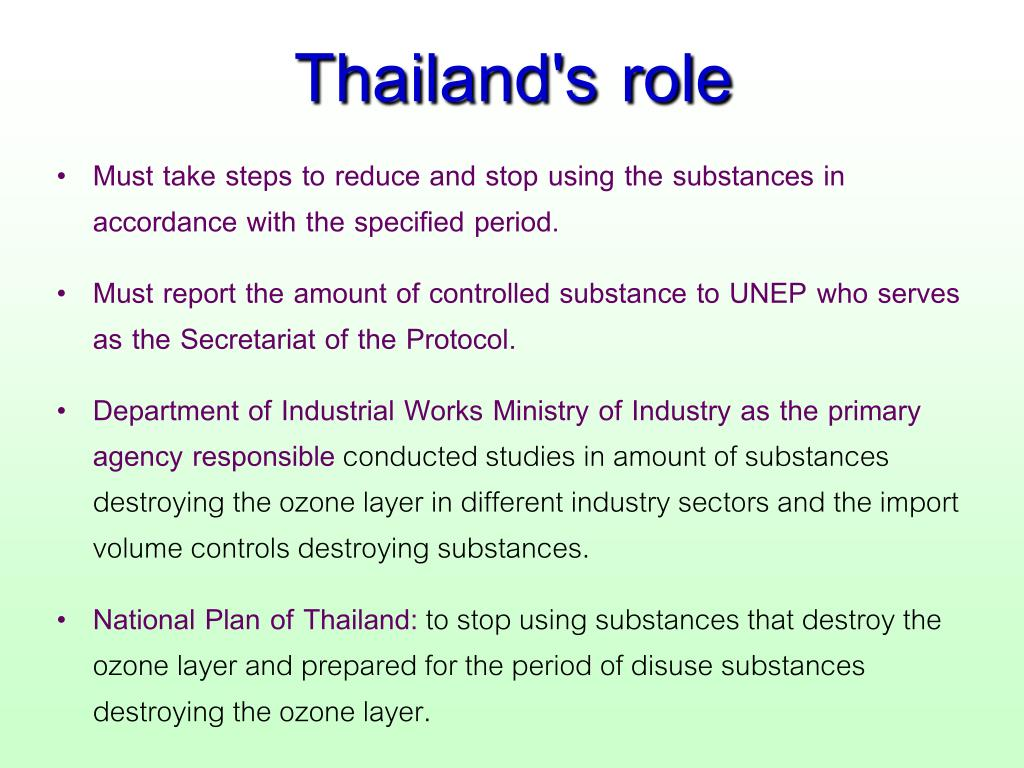 Thailand's role