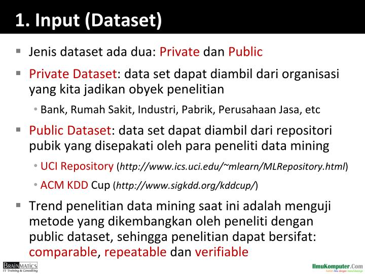 1. Input (Dataset)