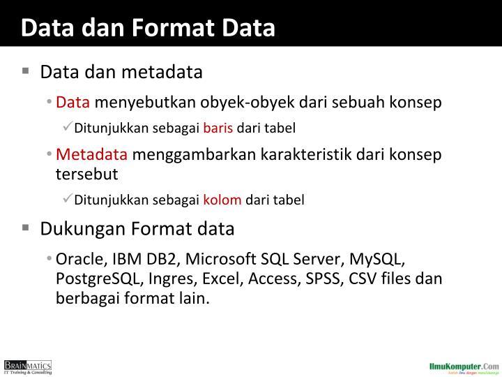 Data dan Format Data