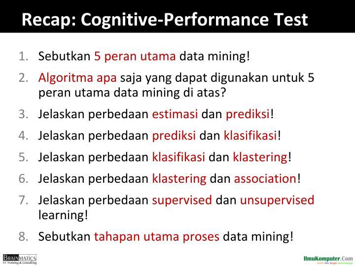 Recap: Cognitive-Performance Test