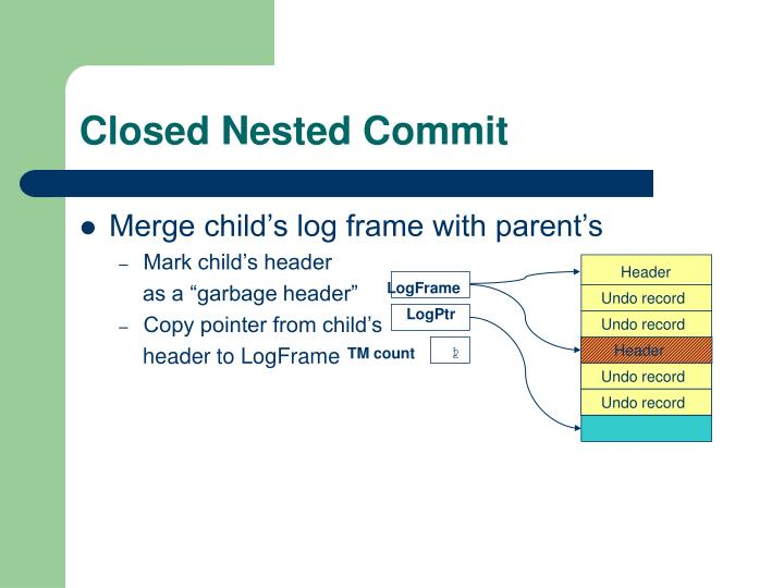 Closed Nested Commit