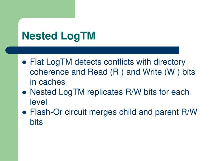 Nested LogTM