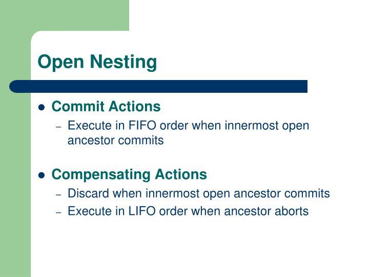 Open Nesting
