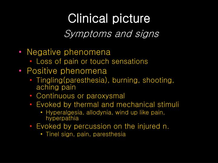 Clinical picture