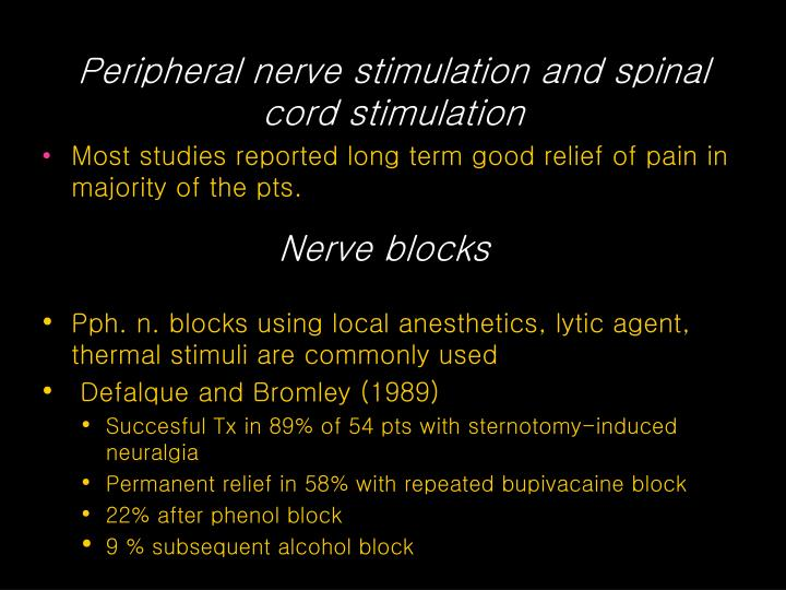 Peripheral nerve stimulation and spinal cord stimulation