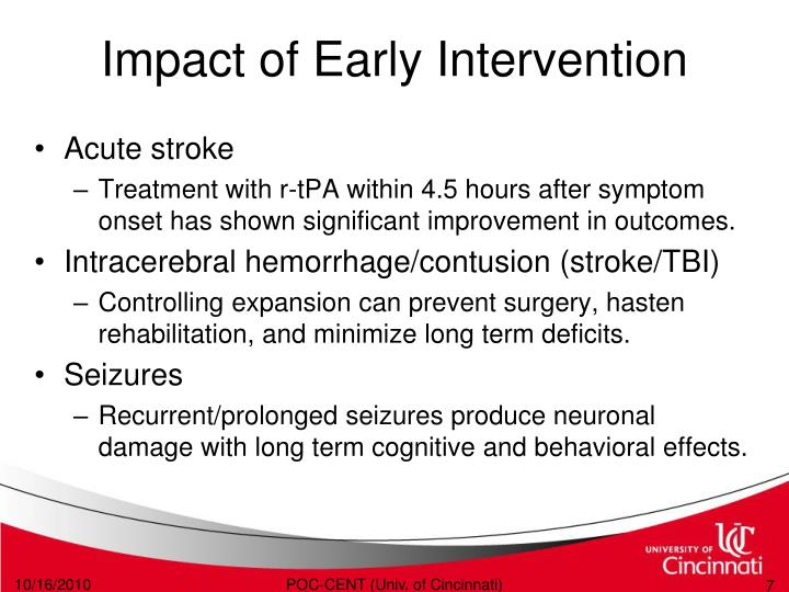 Impact of Early Intervention