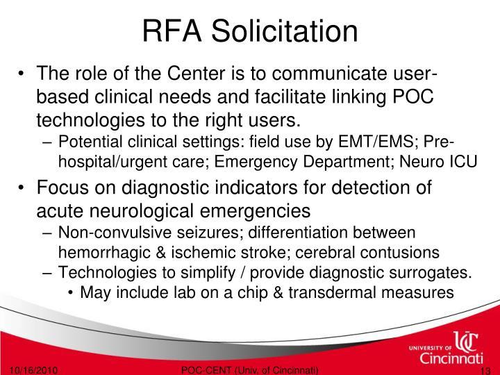 RFA Solicitation
