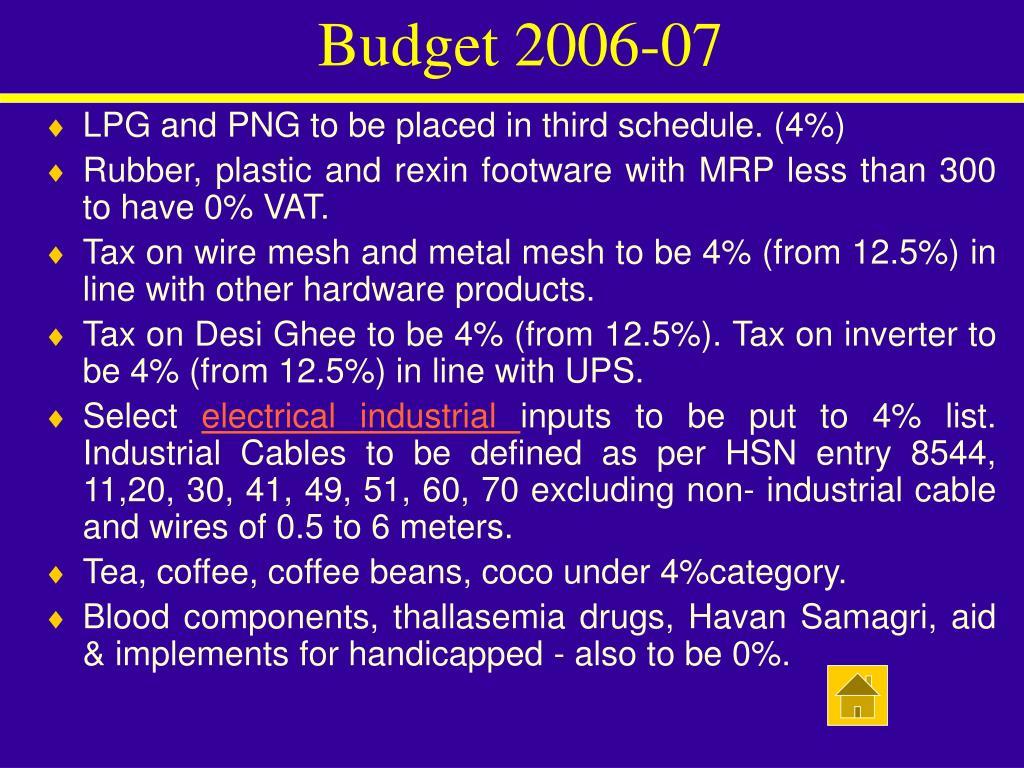Budget 2006-07