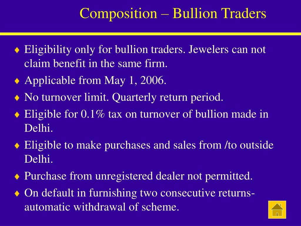Composition – Bullion Traders