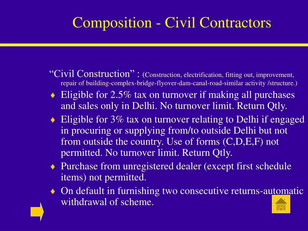 Composition - Civil Contractors