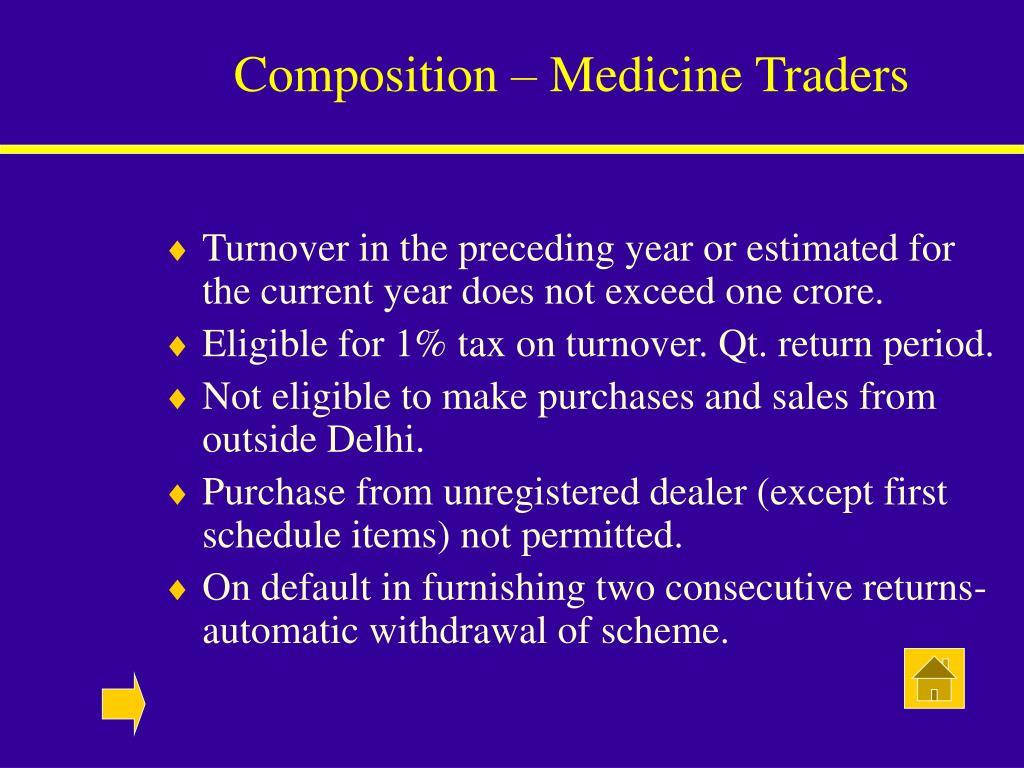 Composition – Medicine Traders