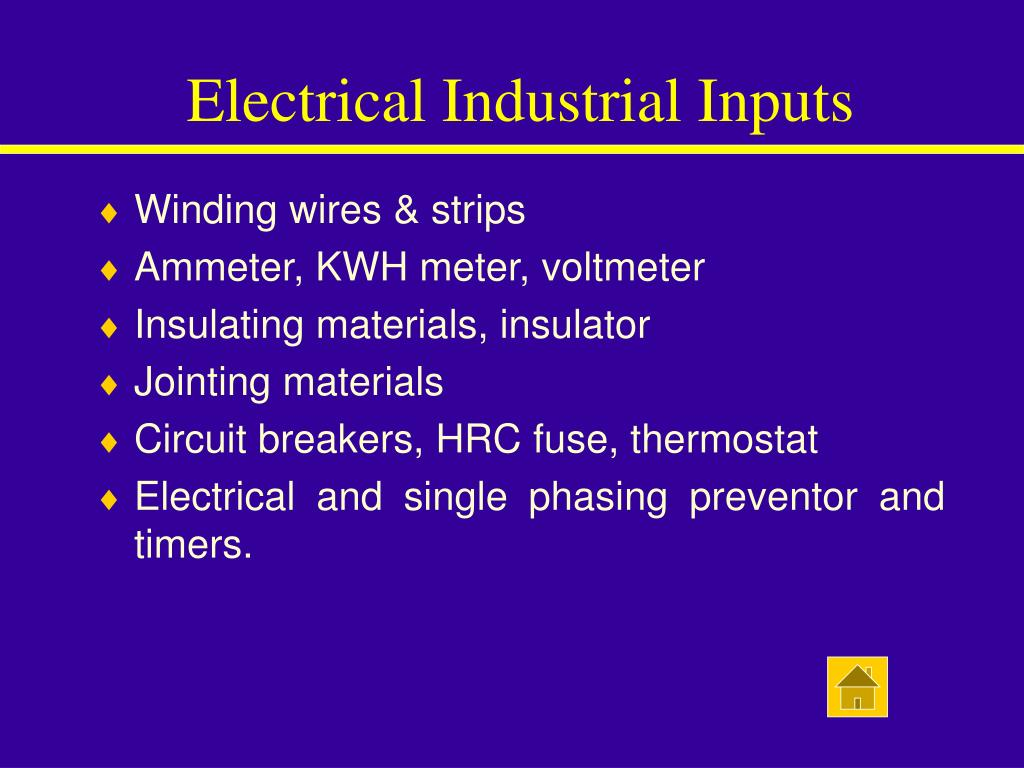 Electrical Industrial Inputs