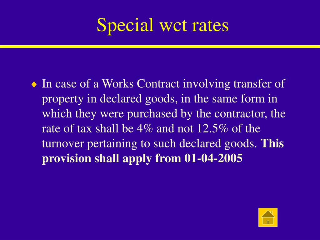 Special wct rates
