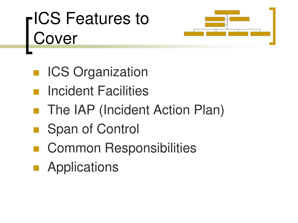 ICS Features to Cover