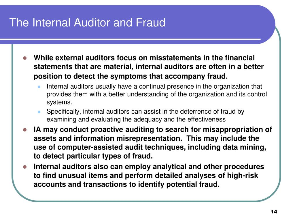 The Internal Auditor and Fraud