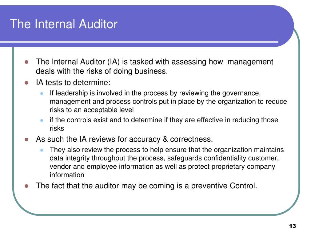 The Internal Auditor