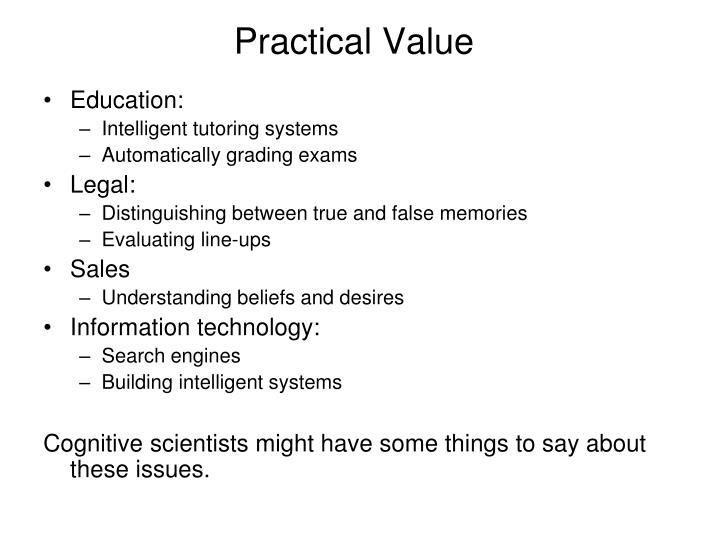Practical value