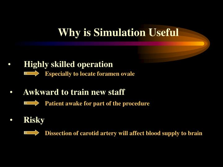 Why is Simulation Useful