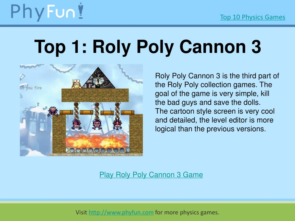 Top 1: Roly Poly Cannon 3