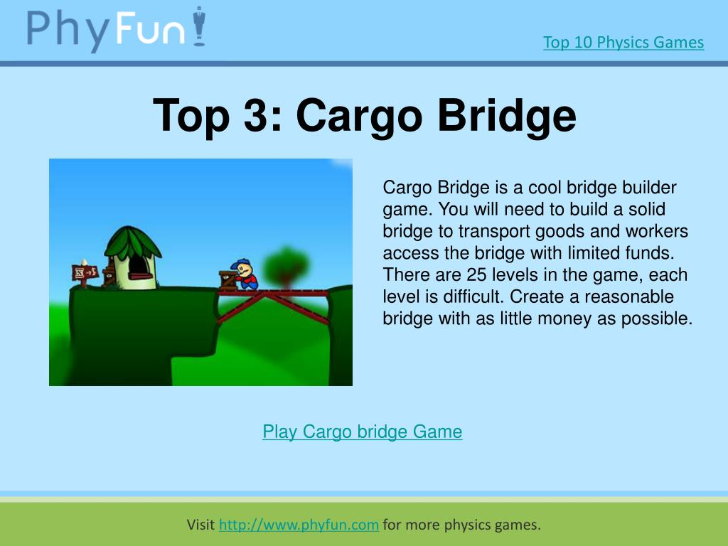 Top 3: Cargo Bridge
