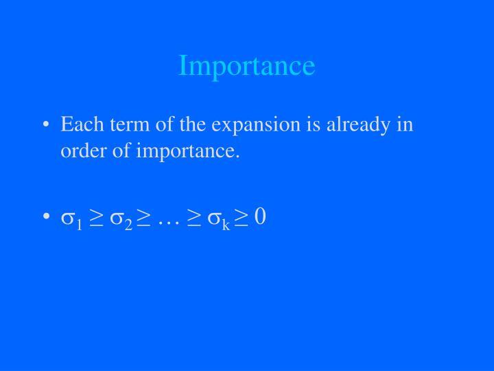 Importance