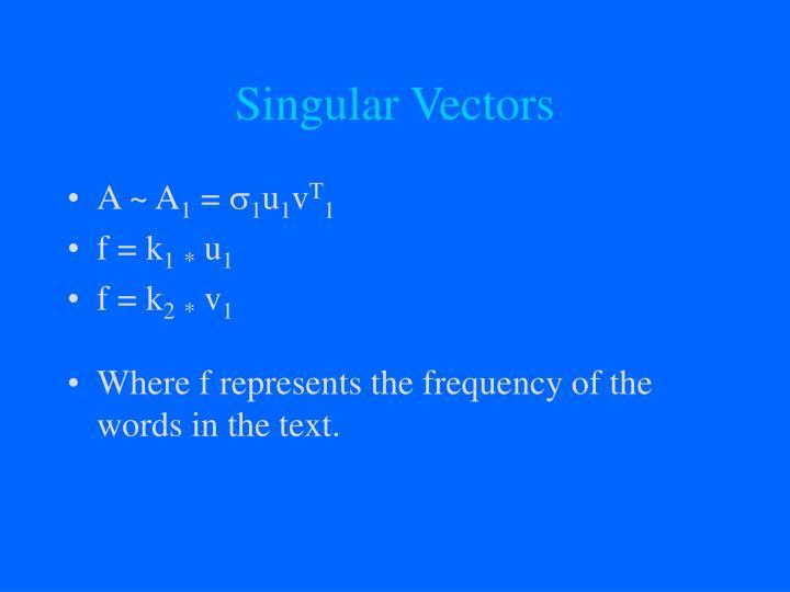 Singular Vectors