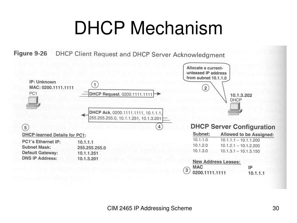 DHCP Mechanism