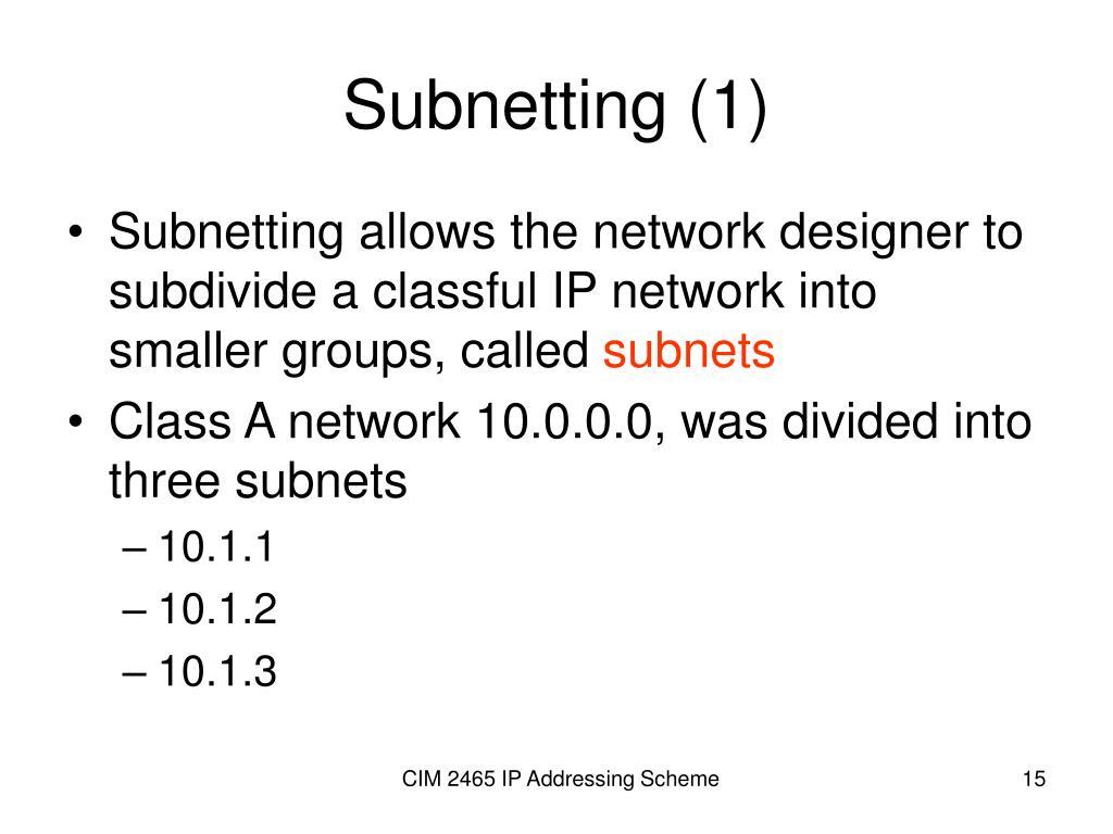 Subnetting (1)