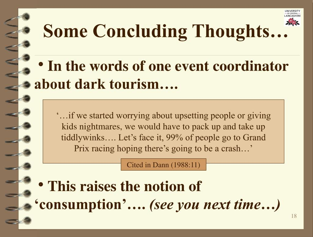 Some Concluding Thoughts…