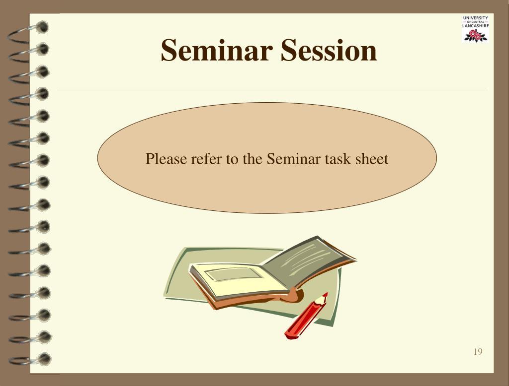 Seminar Session