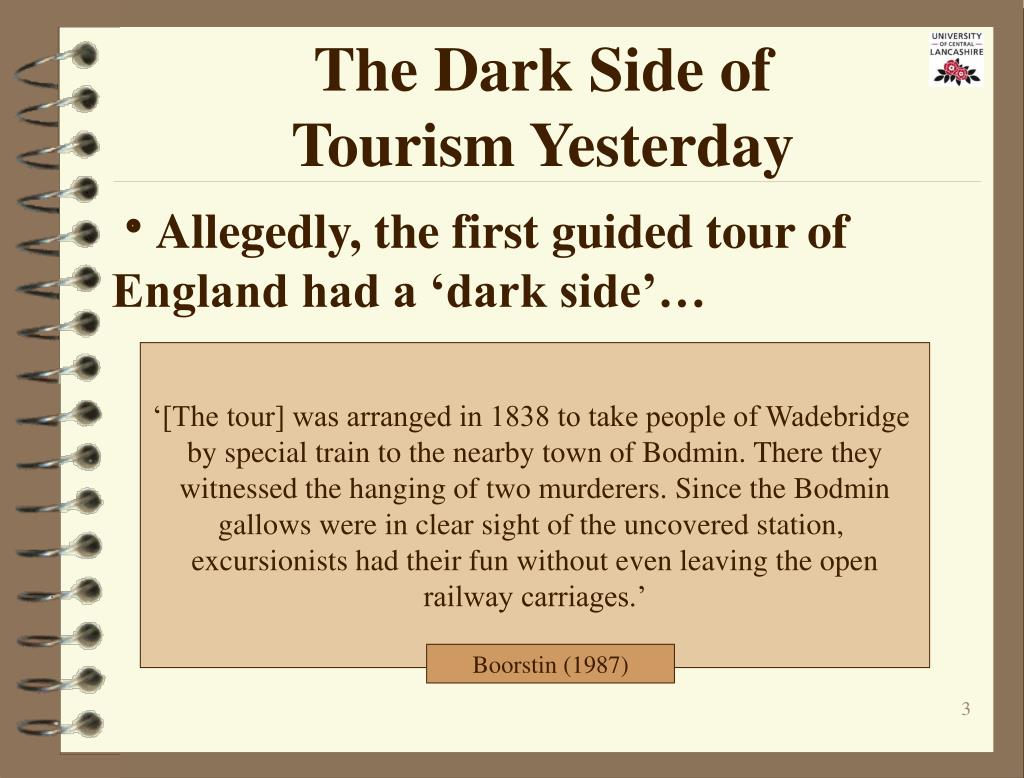 The Dark Side of                   Tourism Yesterday