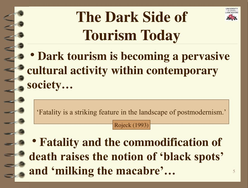 The Dark Side of                    Tourism Today